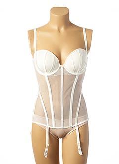 Body lingerie blanc IMPLICITE pour femme