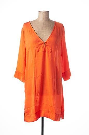 Tunique manches longues orange SIMONE PERELE pour femme