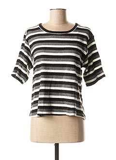 Pull col rond gris BSB pour femme