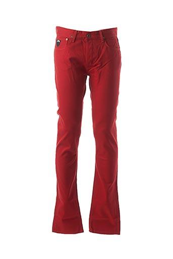 Jeans coupe slim rouge APRIL 77 pour homme