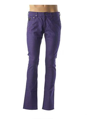 Pantalon casual violet APRIL 77 pour homme