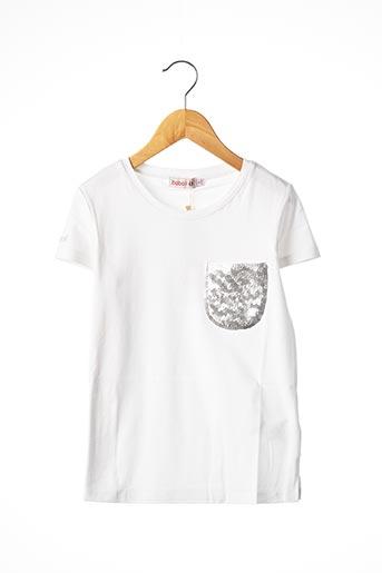 T-shirt manches courtes blanc BOBOLI pour fille