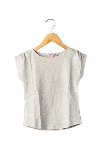 T-shirt manches courtes gris BOBOLI pour fille