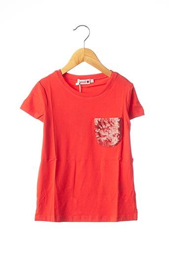 T-shirt manches courtes rouge BOBOLI pour fille