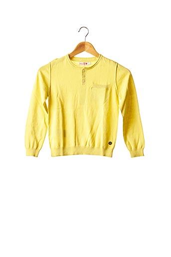 Pull col rond jaune BOBOLI pour enfant