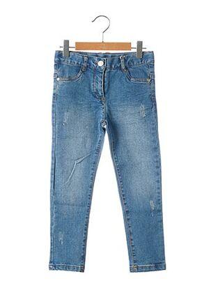 Jeans coupe slim bleu BOBOLI pour fille