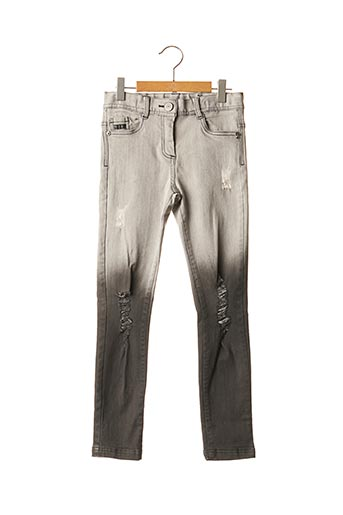 Jeans coupe slim gris BOBOLI pour fille
