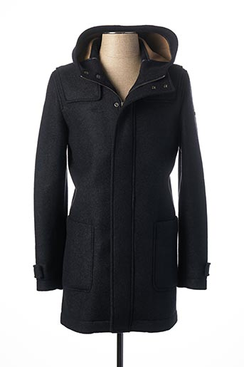Manteau long bleu MANUEL RITZ pour homme