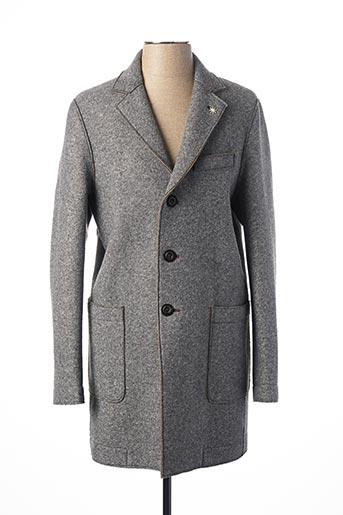 Manteau long gris MANUEL RITZ pour homme