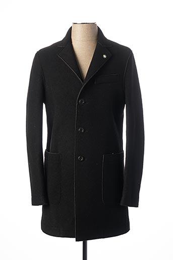 Manteau long noir MANUEL RITZ pour homme