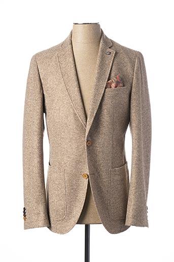 Veste chic / Blazer beige CLUB OF GENTS pour homme
