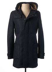 Manteau long bleu MANUEL RITZ pour homme seconde vue