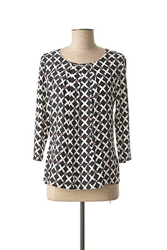 T-shirt manches longues noir FRANK WALDER pour femme