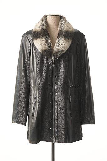 Veste simili cuir noir REVER MILE pour femme