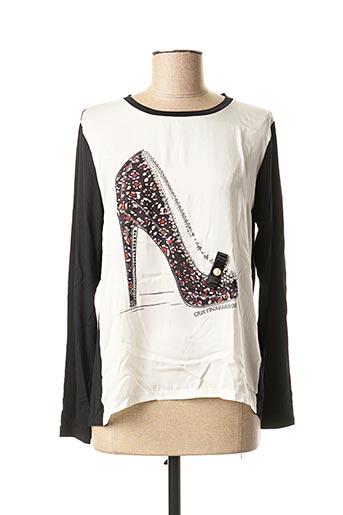 T-shirt manches longues noir CRISTINA BARROS pour femme