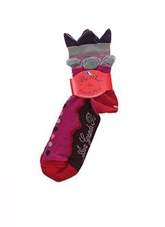 Chaussettes rose BERTHE AUX GRANDS PIEDS pour femme