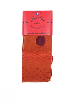 Collants orange BERTHE AUX GRANDS PIEDS pour femme