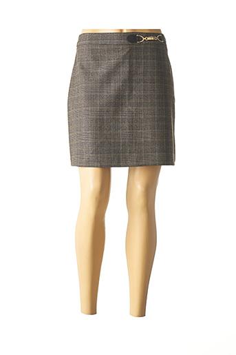 Jupe courte marron MORGAN pour femme