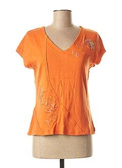 T-shirt manches courtes orange JAC JAC pour femme