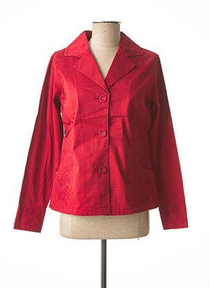Veste chic / Blazer rouge JAC JAC pour femme