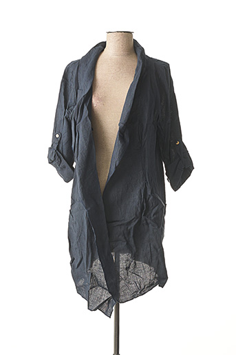 Veste casual bleu MADE IN ITALY pour femme