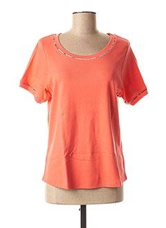 T-shirt manches courtes orange TELMAIL pour femme