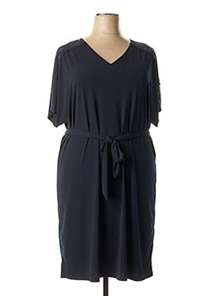 Robe mi-longue bleu DIANE LAURY pour femme