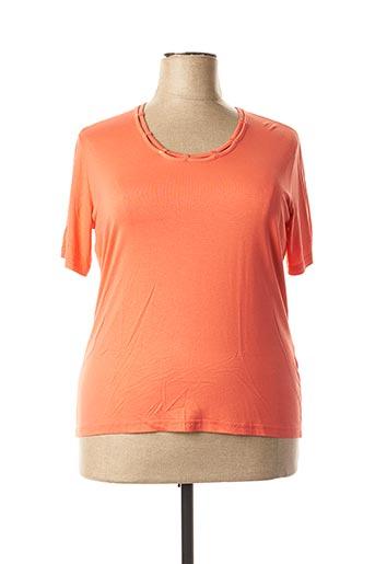T-shirt manches courtes orange I.ODENA pour femme