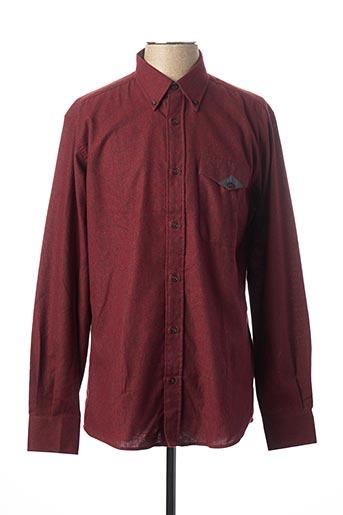 Chemise manches longues rouge BELLONI pour homme