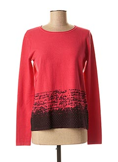 Pull col rond rose TELMAIL pour femme