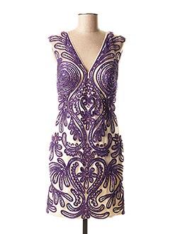 Robe courte violet FAUST pour femme