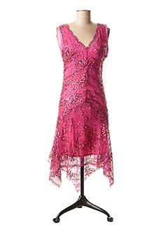 Robe mi-longue rose FAUST pour femme