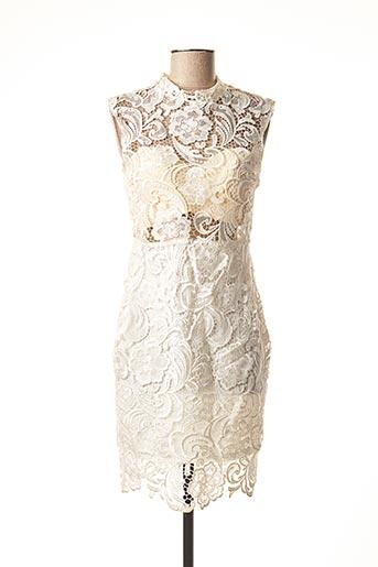 Robe mi-longue beige POUPÉE DE SOIE pour femme
