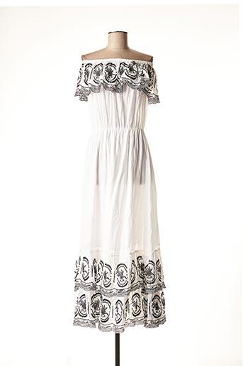 Robe mi-longue blanc CHLOE LAETITIA pour femme