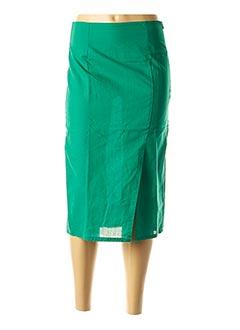 Jupe mi-longue vert COMPAÑIA FANTASTICA pour femme