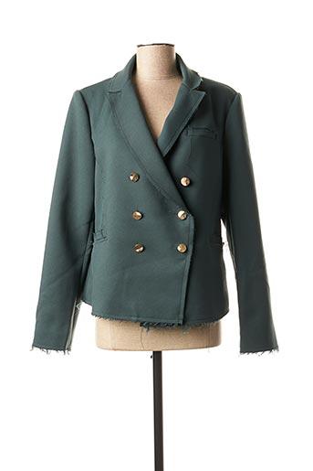 Veste chic / Blazer vert CHATTAWAK pour femme