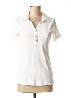 Polo manches courtes blanc BRANDTEX pour femme