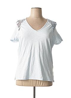 T-shirt manches courtes bleu CONCEPT K pour femme