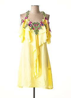 Robe courte jaune FAUST pour femme