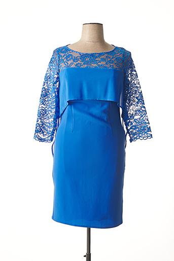 Robe mi-longue bleu EDAS pour femme