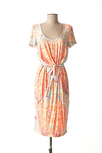 Robe mi-longue orange BANDOLERA pour femme