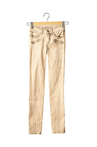 Pantalon casual beige ANCESTRAL GROUND pour femme