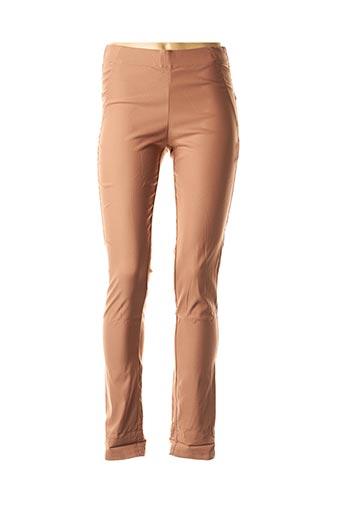 Pantalon casual marron MYRINE & ME pour femme