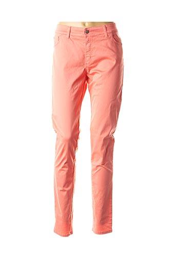 Pantalon casual orange COWEST pour femme