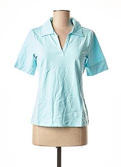 T-shirt manches courtes bleu PATRIZIA DINI pour femme