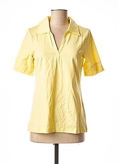 T-shirt manches courtes jaune PATRIZIA DINI pour femme