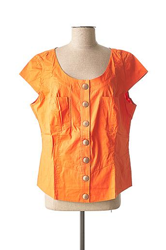 Chemisier manches courtes orange ASHLEY BROOKE pour femme