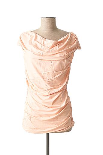 T-shirt manches courtes rose ASHLEY BROOKE pour femme