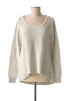 Pull col rond gris BEST CONNECTIONS pour femme