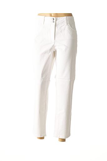 Jeans coupe droite blanc ASHLEY BROOKE pour femme